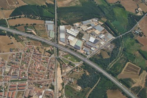 Obraz Pejzaż miejski z lotu ptaka - fototapety do salonu