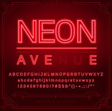 Bright Neon Alphabet Letters, ...
