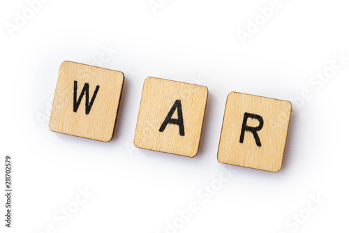 Photo  The word WAR