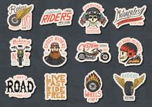 Biker Club Stickers Templates....