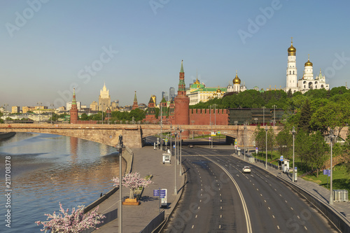 Staande foto Aziatische Plekken Moscow city skyline at Kremlin Palace Red Square and Moscow River, Moscow, Russia