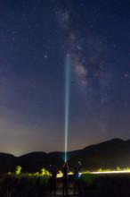 Milky Way Galaxy And Landscape.