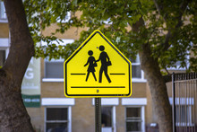 School Zone Sign In Downtown
