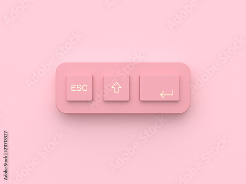 Obraz pink minimal abstract technology equipment button keyboard 3d rendering - fototapety do salonu