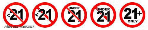 Fotografía  Under 21 not allowed sign