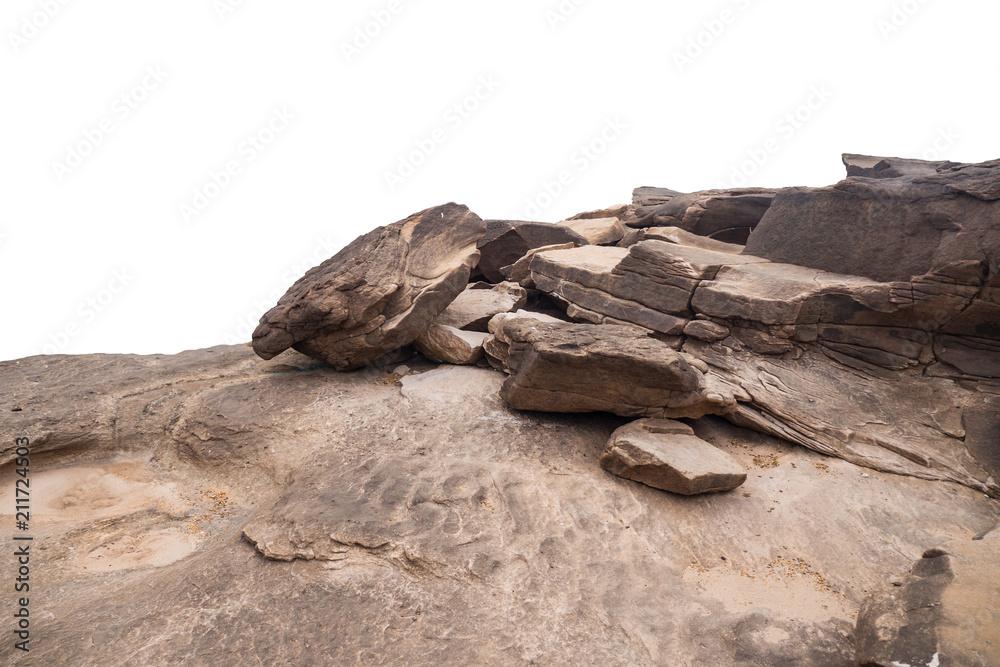 Fototapeta rock isolated on white background
