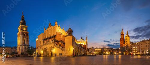 In de dag Krakau Krakow Market Square, Poland - panorama