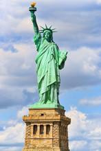 Statue Of Liberty (Liberty Enlightening The World) Near New York. Close-up. USA.