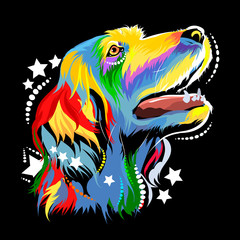 Vector image of a dog in th...