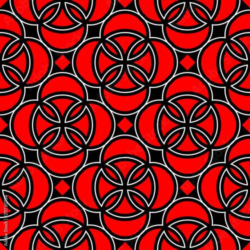 bezszwowe-geometryczne-czarne-tlo-z-czerwonymi-i-bialymi-elementami