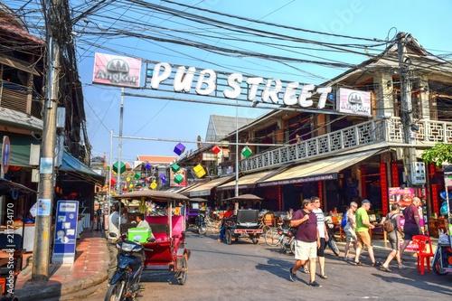 Fototapeta premium Siem Reap Pub Street