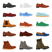 Man Shoe Vector Fashion Male B...