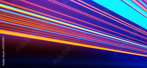 Neon Background Abstract Lines Laser Beams Stylish Wallpaper