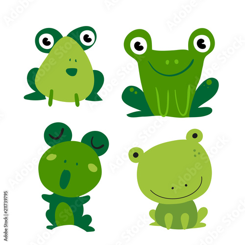 Valokuvatapetti frogs vector collection design