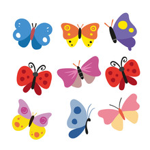 Butterfly Character Vector Des...