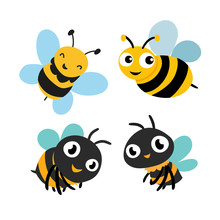 Bee Character Vector Design
