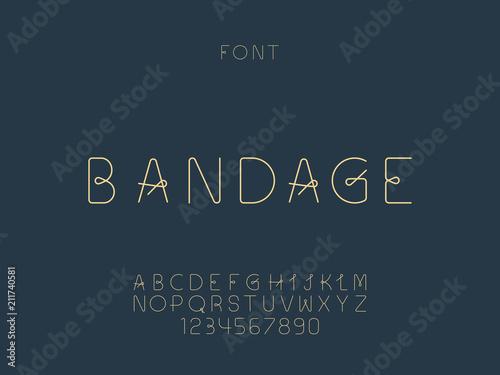 Photo  Bandage font. Vector alphabet