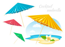 Colorful Umbrellas With Plumer...