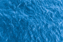 Beautiful Sea Background - Blue Water Surface With Small Ripples, Top View
