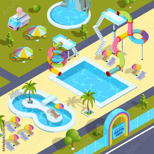 Foto  Pictures of outdoor attractions in water park