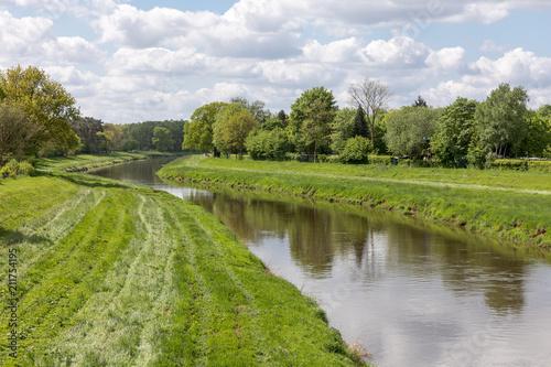 Staande foto Rivier Fluss Hase in Niedersachsen, Deutschland