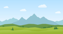 Vector Landscape Mountains And...