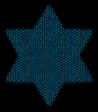 Halftone Six Pointed Star Mosa...