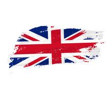 British Flag Made Of Brush Str...