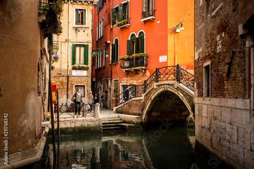 Paisagem de Veneza com Turistas.