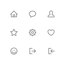 Basic Outline Icon Set - Home,...