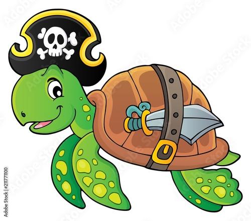 In de dag Voor kinderen Pirate turtle theme image 1