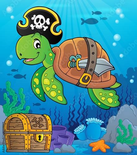 In de dag Voor kinderen Pirate turtle theme image 2