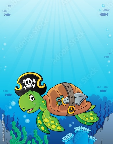 In de dag Voor kinderen Pirate turtle theme image 3