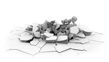 Concrete Slab Floor Shell Hole