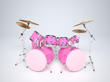 Drums Pink With Two Bass Drums