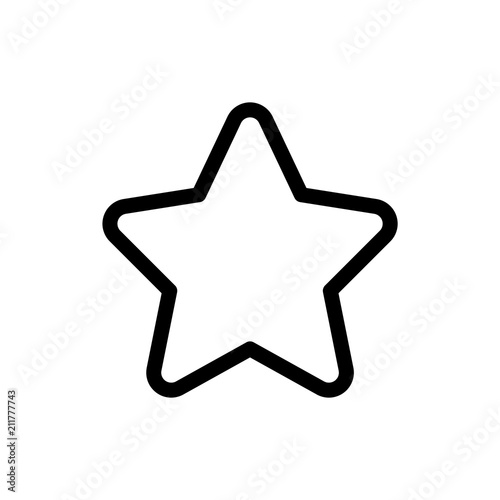 Fotografía  Star icon simple flat web navigation sign