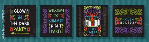 Doodle vector pattern ethnic tribal style frame collection.