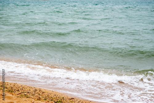 Tuinposter Kust wild sandy beach with sea view