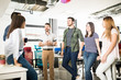 Leinwanddruck Bild - Business team chatting in coffee break