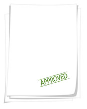 Approved Stamp On Blank Paper
