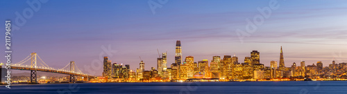 Canvas Prints San Francisco San Francisco downtown skyline