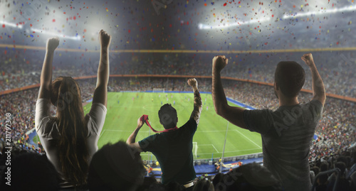 Spoed Foto op Canvas Stadion Supporter - Match - Stade