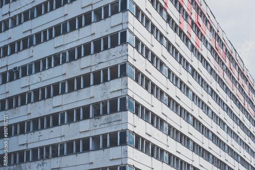 Foto auf Gartenposter Historische denkmal abandoned building - building facade of empty house