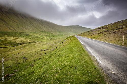 Staande foto Europa road in faroe island