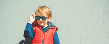 Stylish Kid In Trendy Sunglass...