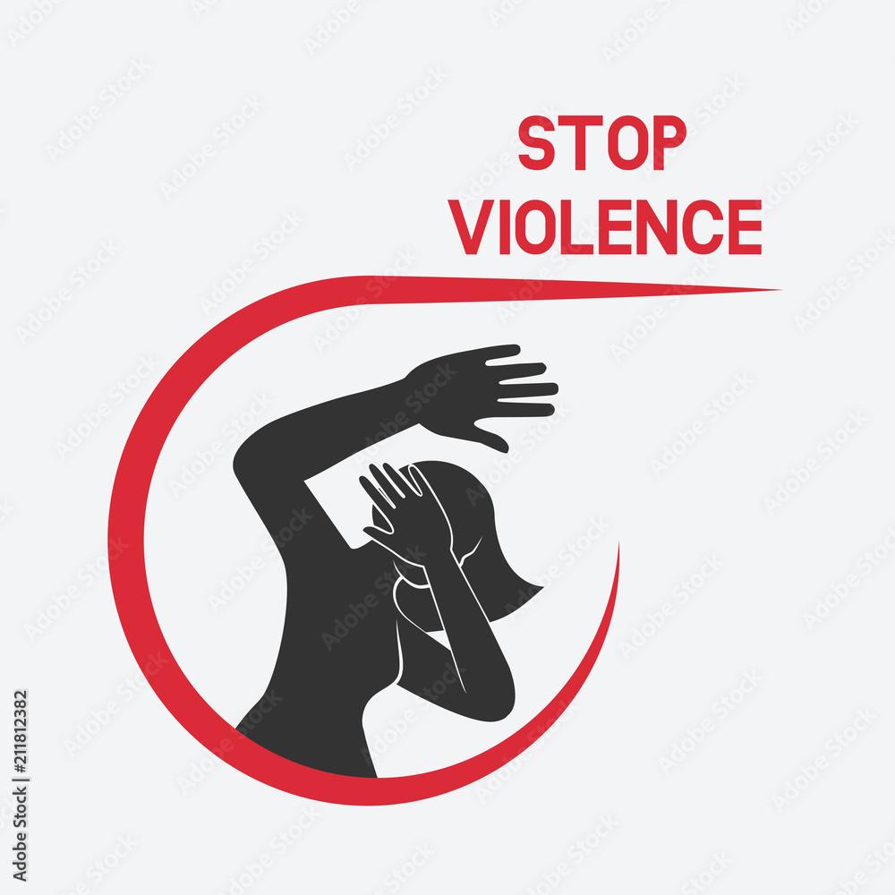 Fototapeta stop violence against women poster