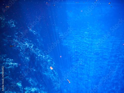 Fotografija  Lagoon mysterious, beautiful lagoon of transparent waters of turquoise blue, loc