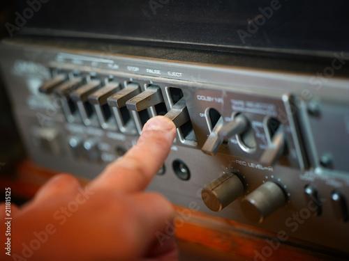 Fotografía  Vintage stereo player