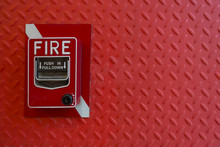 Fire Alarm Hand Lever Red On R...