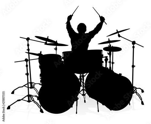 Fotografía Musician Drummer Silhouette